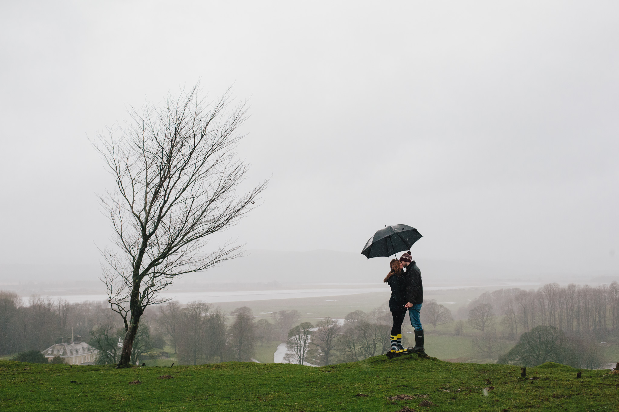 A rainy Pre Wedding Shoot, Milnthorpe.